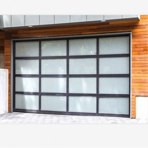 Aluminum electric automatic overheard sectional insulated garage doors