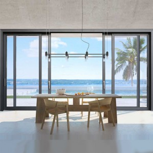 Hihaus in wall commercial electric automatic double glazed sliding glass doors