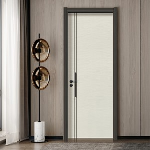New design room insulated ivory white solid mdf interior wood door