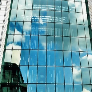 Hihaus new commercial point supported spider steel & glass fin curtain wall
